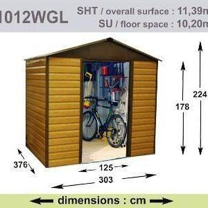 Caseta de jardín YARDMASTER 11.39m2