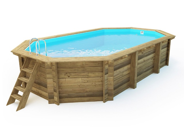Piscina de madera nika 657cm x 407cm x 120cm piscinas athena for Piscinas athena