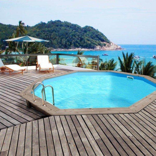 piscina de madera 430cm x 130cm piscinas athena