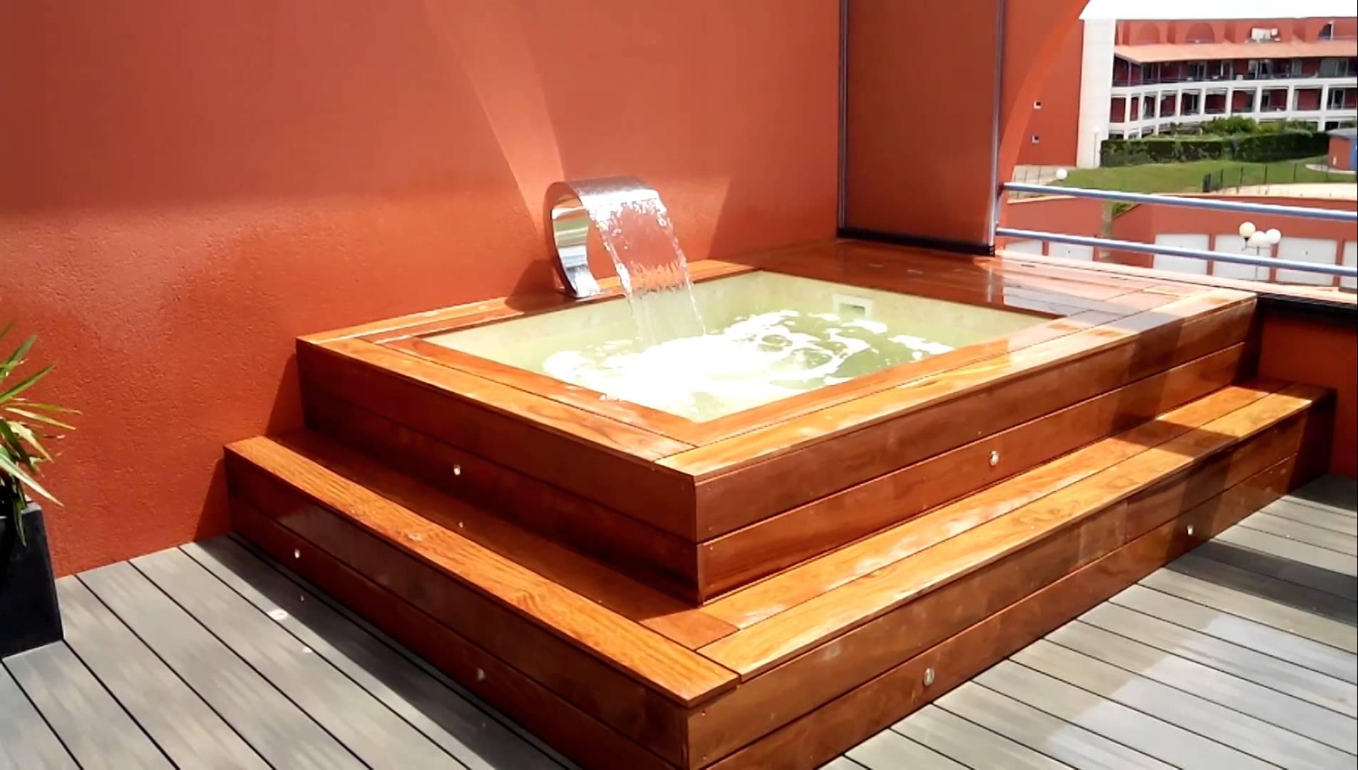 Mini piscina de madera nika 2 x 2 al mejor precio for Mini piscinas para terrazas