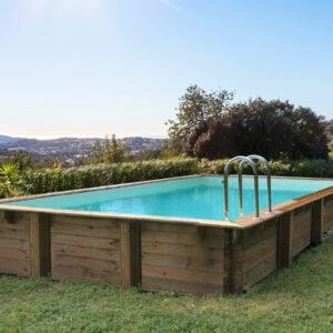imagen piscina de madera Nika Rect 920cm x 520cm x 144cm