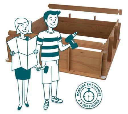 mini piscina de madera tropicos piscinas athena. Black Bedroom Furniture Sets. Home Design Ideas