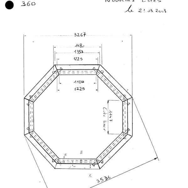 Piscina de madera 360cm x 120cm piscinas athena for Piscinas athena