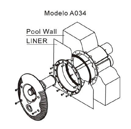 Nado a contracorriente de 55m3 h piscinas athena for Installation liner piscine