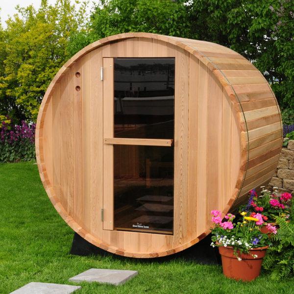 imagen Sauna de barril exterior de 2 personas