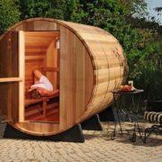 imagen Sauna de barril exterior de 4 personas
