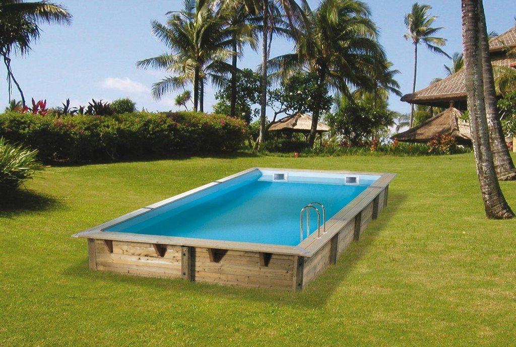 Piscina de madera 650cm x 350cm x 140cm piscinas athena for Piscinas athena