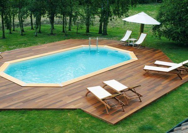 Piscina de madera 860cm x 470cm x 130cm piscinas athena for Piscinas athena