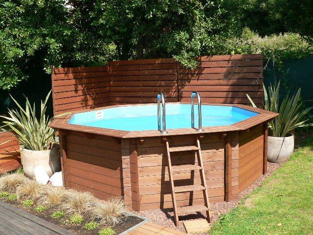 Piscinas madera al mejor precio piscinas athena for Jardines con piscinas desmontables