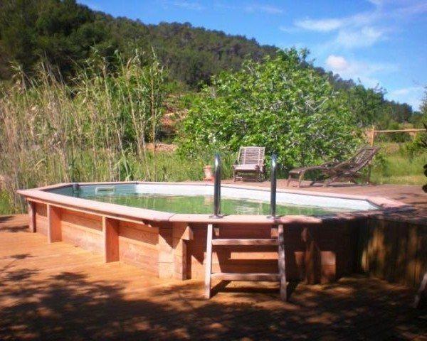 Piscina de madera 480cm x 330cm x 130cm piscinas athena for Piscinas online ofertas