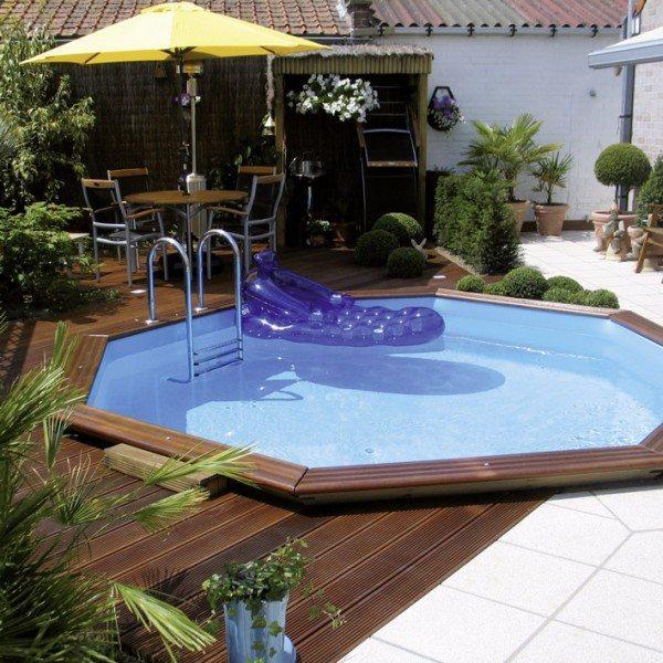 Piscina de madera 430cm x 130cm piscinas athena for Oferta piscinas bricomart