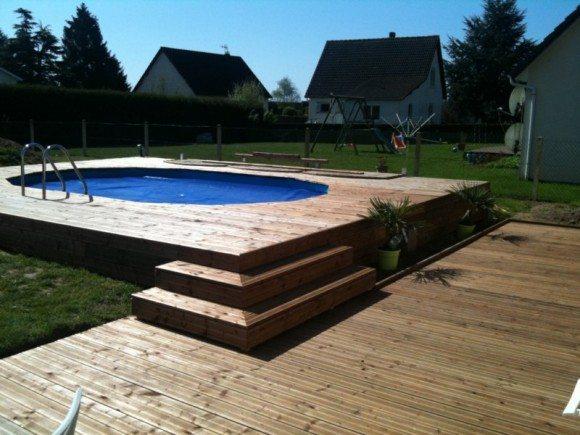 Piscina de madera 480cm x 330cm x 130cm piscinas athena for Piscinas athena