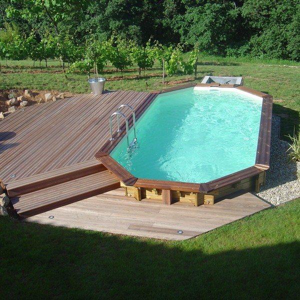 Piscina de madera 610cm x 400cm x 120cm piscinas athena - Piscinas de madera semienterradas ...