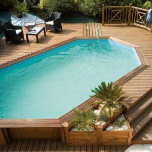 imagen piscina de madera 610cm x 400cm x 146cm