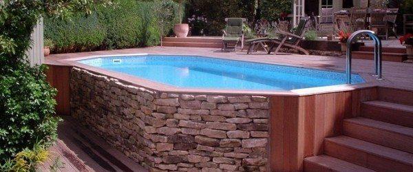 Piscina de madera 610cm x 400cm x 120cm piscinas athena for Cuanto cuesta una piscina de cemento