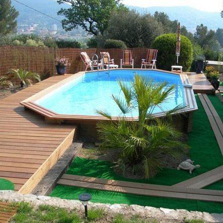 Piscina de madera 610cm x 400cm x 120cm piscinas athena for Piscinas desmontables madera