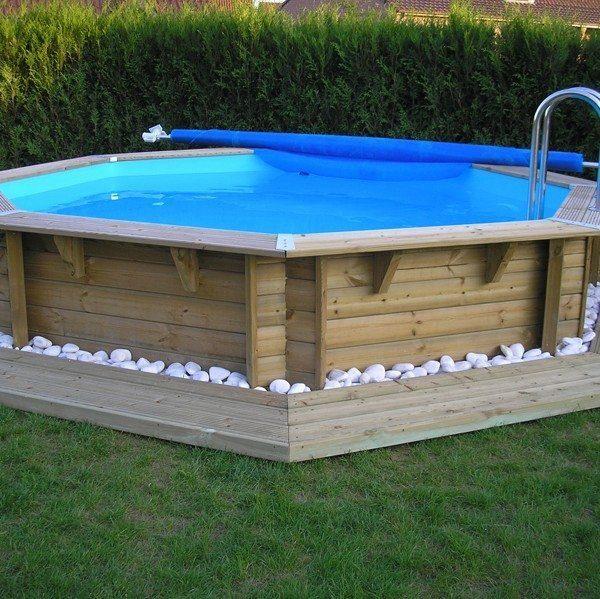 Piscina de madera 430cm x 120cm piscinas athena for Piscinas athena