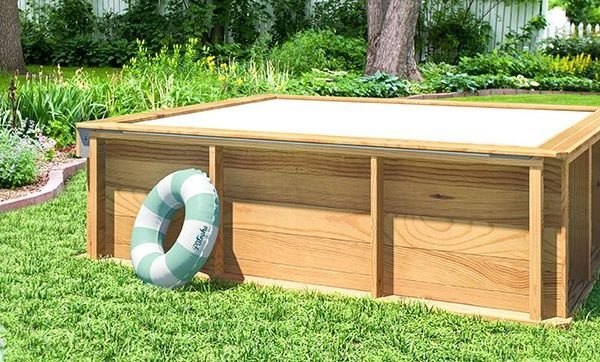 Mini piscina de madera 2 26x2 26x0 63m piscinas athena for Oferta construccion de piscinas