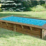 Piscina de madera maciza 3 50x2x0 71m piscinas athena for Mini piscinas prefabricadas