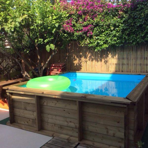 Mini piscina de madera 2 26x2 26x0 63m piscinas athena - Minipiscinas para terrazas ...