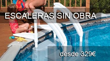 Escaleras sin obra para piscinas piscinas athena - Piscinas sin obra ...