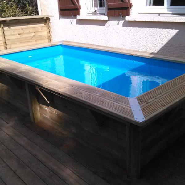 Piscina de madera maciza 3 50x2x0 71m piscinas athena - Madera para piscinas ...