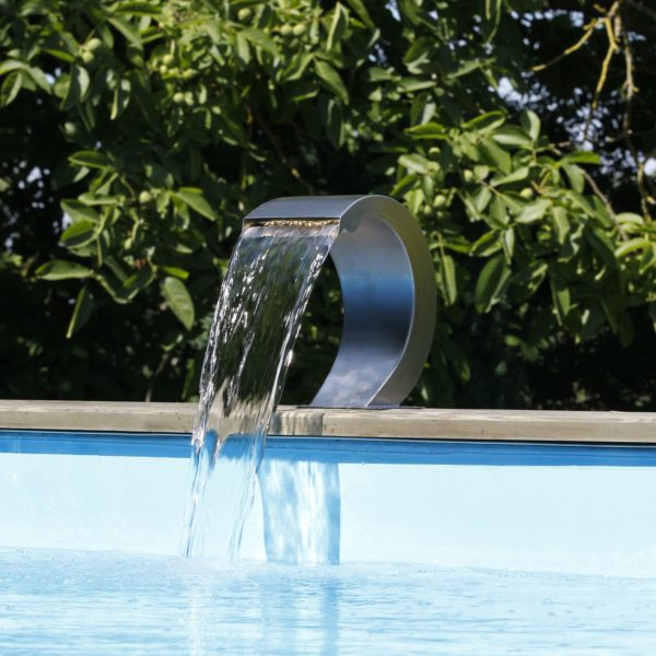 Cascada samba s led para piscinas de madera piscinas athena for Cascadas prefabricadas