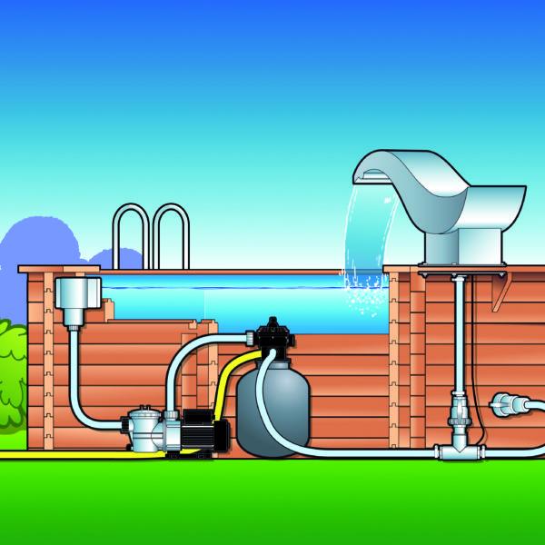 Cascada ave para piscinas prefabricadas y de madera for Cascadas prefabricadas