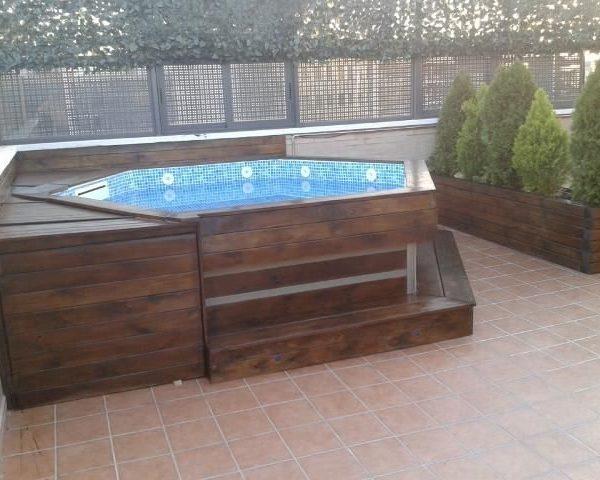 Mini piscina de madera nikita 3 30x0 58m piscinas athena for Mini piscinas prefabricadas