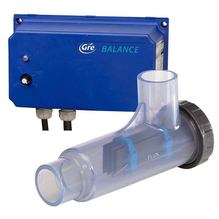 Clorador salino gre balance 55m3 piscinas athena for Cantidad de sal para piscinas