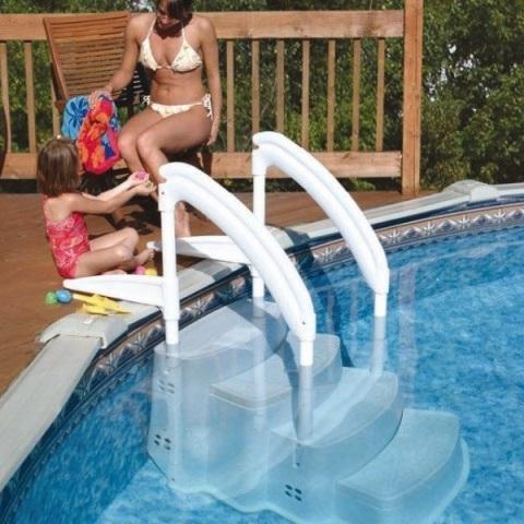 Escaleras sin obra para piscinas privadas piscinas athena for Escaleras de piscina
