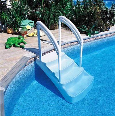 Escaleras sin obra para piscinas privadas piscinas athena for Precio de liner para piscinas