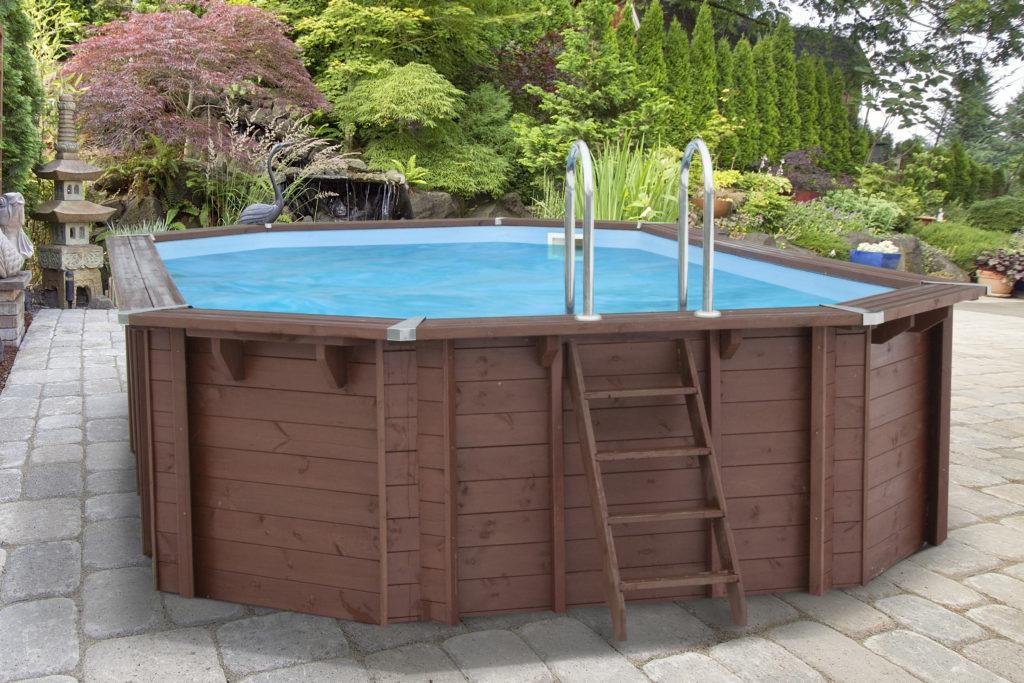 Piscina de madera 698cm x 467cm x 138cm piscinas athena for Piscinas athena
