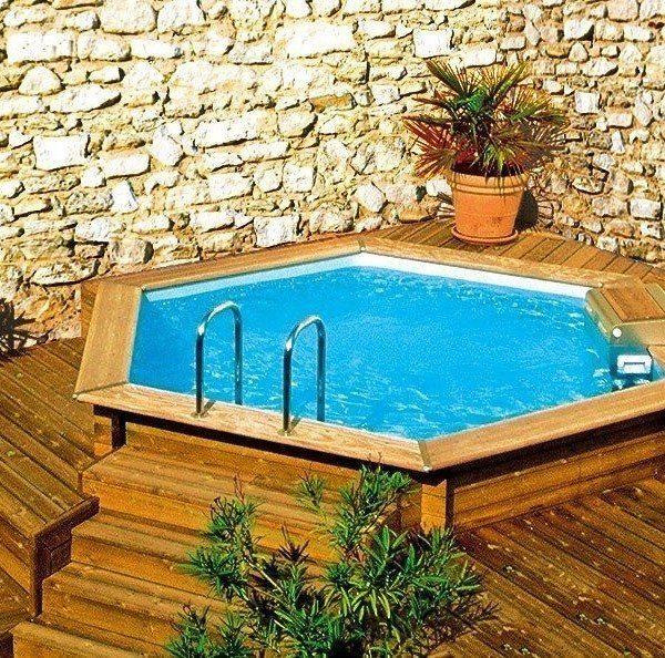 Piscina de madera 360cm x 130cm piscinas athena for Piscinas prefabricadas madera