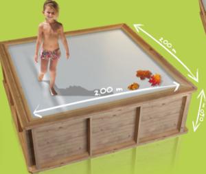 iamgen mini-piscina de madera ambiente