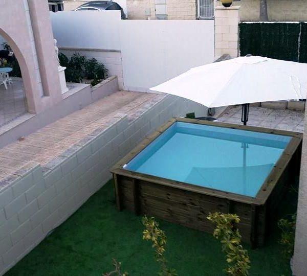 Mini piscina de madera nika para terrazas piscinas athena - Piscinas de madera leroy merlin ...