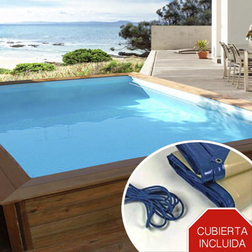 Mini piscina de madera nika 3 x 2m piscinas athena for Piscinas online ofertas