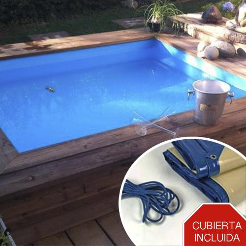 Mini piscina de madera nika para terrazas piscinas athena for Ofertas de piscinas