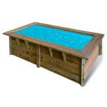 imagen piscina de madera maciza