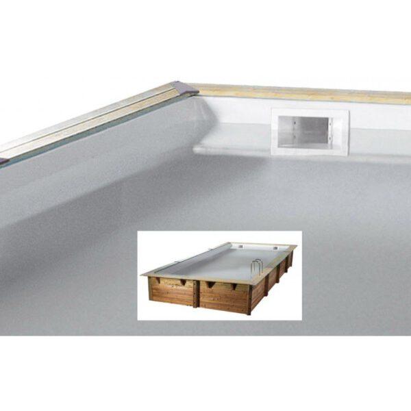 Piscina de madera 650cm x 350cm x 140cm piscinas athena - Piscina madera rectangular ...