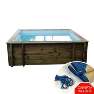 mini piscina de madera nika vista