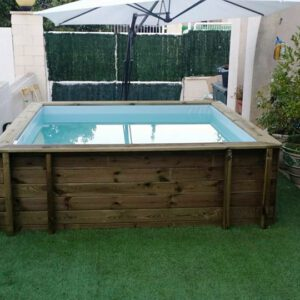 imagen mini piscina de madera Nika