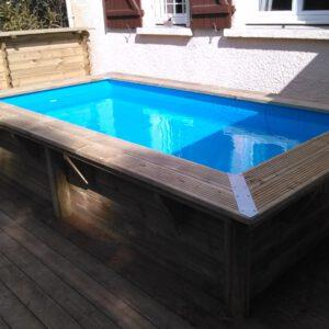 imagen mini piscina de madera rect 3,50 x 2 x 0,71m