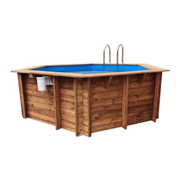 imagen piscina de madera 410cm x 120cm