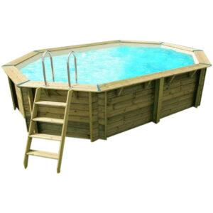 piscina de madera 490 cm x 300 cm x 120 cm vista