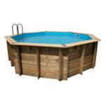 piscina de madera 510 cm x 120 cm vista