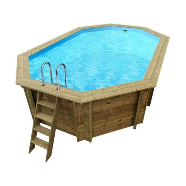 piscina de madera Nika 350cm x 215cm x 120cm vista