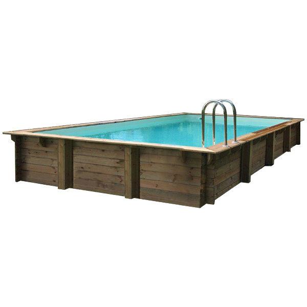 imagen piscina de madera Nika Rect 720cm x 420cm x 144cm