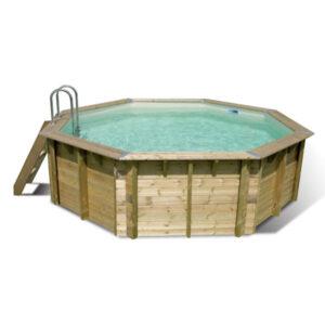 imagen piscina de madera Ocea 4,30m x 1,20m (liner Beige) 11