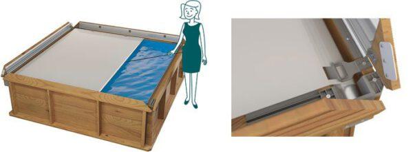 imagen mini piscina de madera
